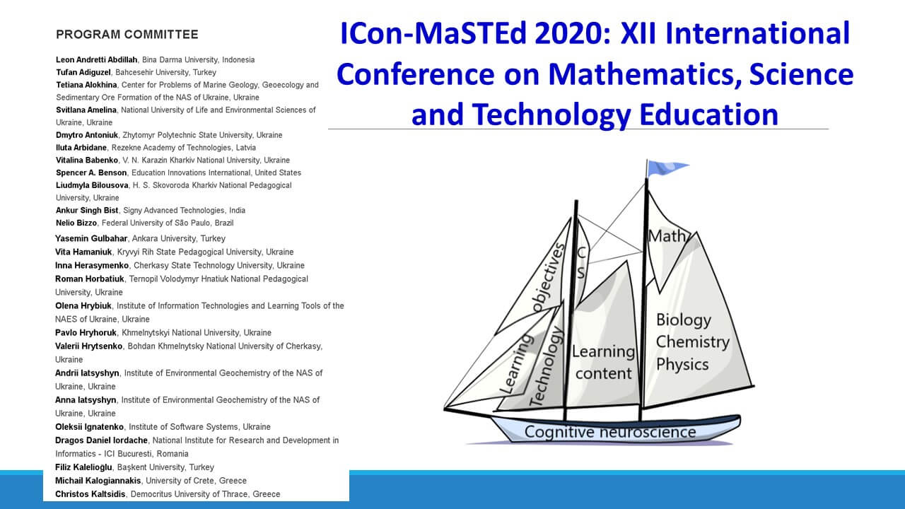 XII INTERNATIONAL CONFERENCE ON MATHEMATICS, SCIENCE AND TECHNOLOGY EDUCATION (ICon-MaSTEd 2020)